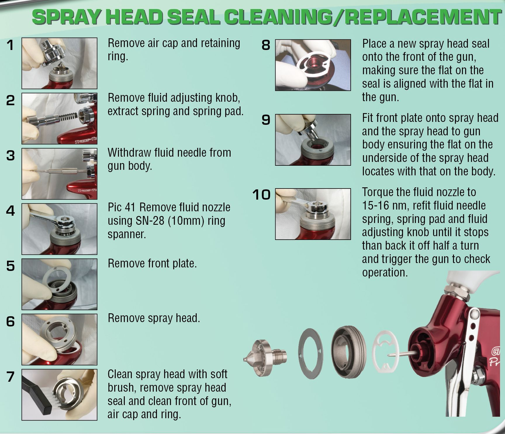 SprayHeadSealCleaningReplacement