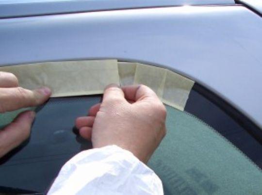 T Euro Perforated Trim Masking Tape Windscreen Masking