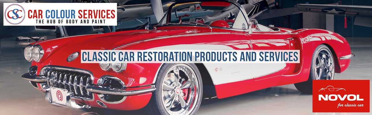 Classic car restoration products and services